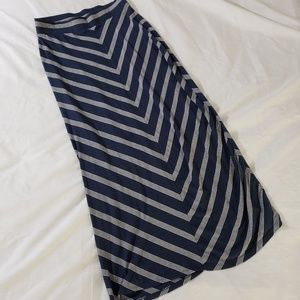 Sonoma Navy & White Striped Maxi Skirt Size S